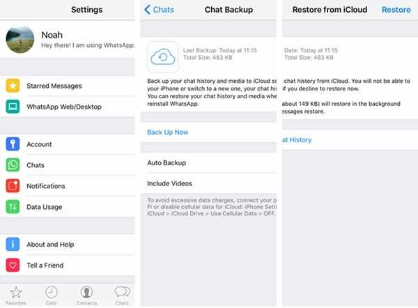 backup whatsapp messages from android to iphone